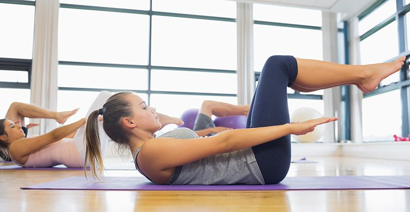 Pilates Grundübungen zum Nachmachen