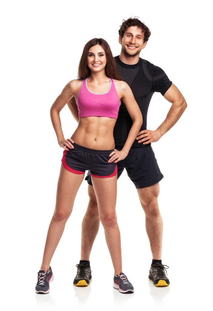 Pilatespaar beim Pilates-Übungen machen